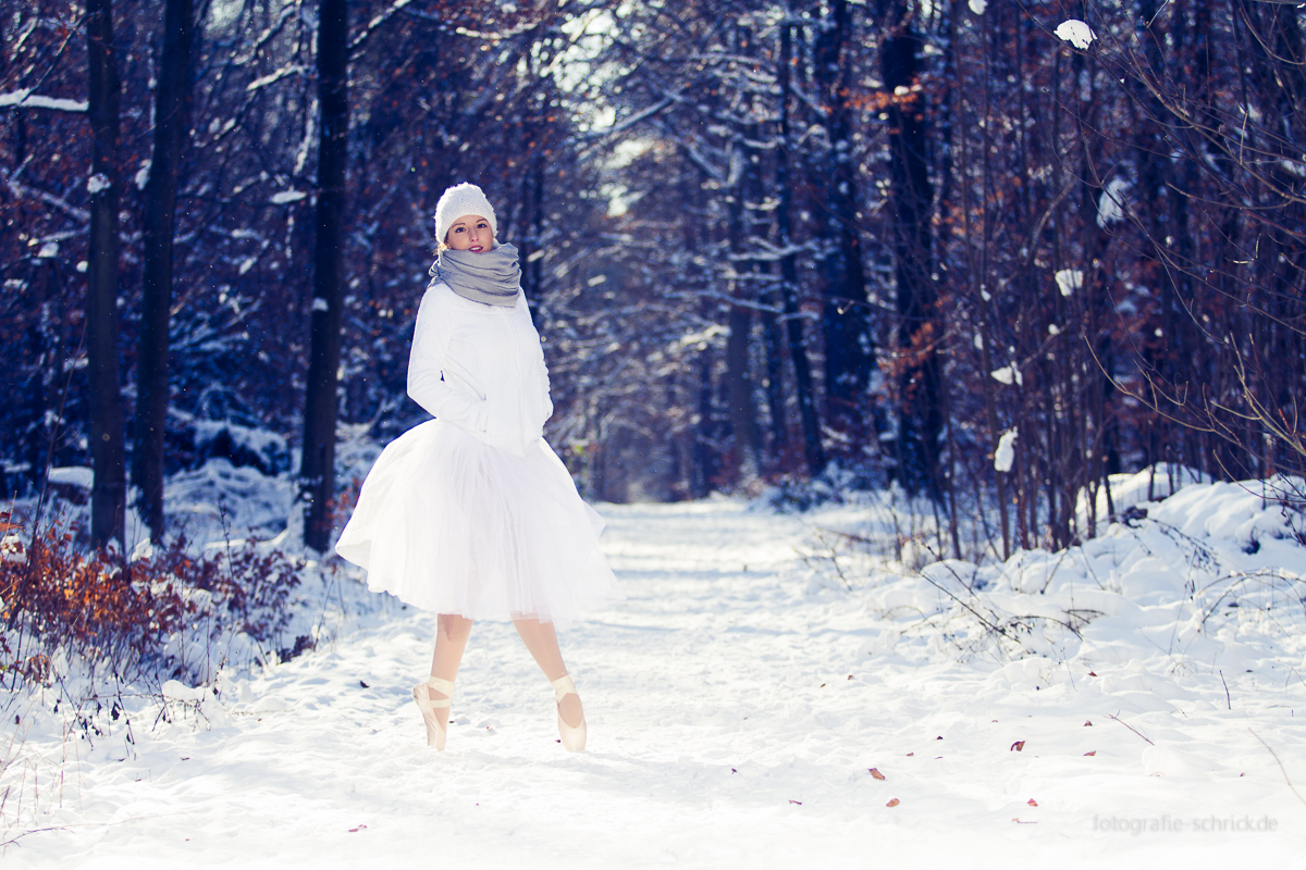Ballett Fotoshooting im Winter